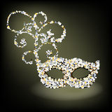 Encrusted beaded  Mask. Encrusted Mask  no transparencies fully editable Royalty Free Stock Image