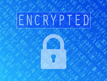 Encrypted Data Background Royalty Free Stock Image