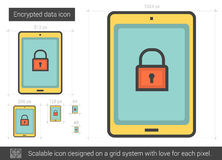 Encrypted data line icon. Stock Photography