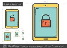 Encrypted data line icon. Royalty Free Stock Photo