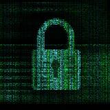 Encrypted digital lock Stock Image