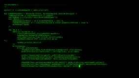 Encrypted fast long scrolling programming security hacking code data flow stream on green display new quality numbers. Encrypted fast long scrolling programming stock video footage