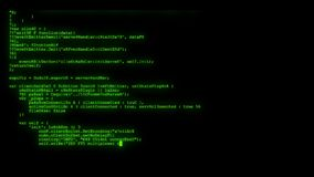Encrypted fast long scrolling programming security hacking code data flow stream on green display new quality numbers. Encrypted fast long scrolling programming stock footage