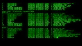 Encrypted fast long scrolling programming security hacking code data flow stream on green display new quality numbers. Encrypted fast long scrolling programming stock video