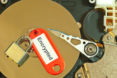 Encrypted hard disk Royalty Free Stock Images