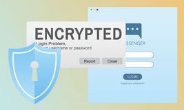 Encrypted Information Data Binary Password Safe Concept Royalty Free Stock Photo