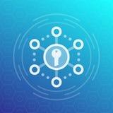 Encryptie, veilig toegangs vectorpictogram stock illustratie