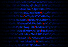 Encryption concept - red decrypted letters Royalty Free Stock Image