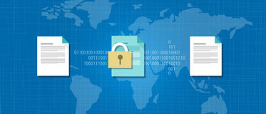 Encryption decrypt cryptography data protection. Key Royalty Free Stock Photo