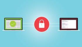 Encryption encrypt data secure. Safe virus protection Stock Photo