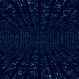 Encryption information. Binary code on blue background. Random binary numbers. Big data algorithm abstract concept. Vector Royalty Free Stock Photo