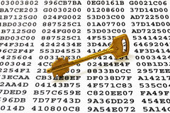 Encryption key concept stock photos
