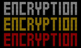 Encryption text with padlocks. Illustration Stock Photography