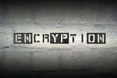 Encryption WORD GR Stock Photos