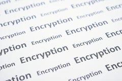 Encryption word Royalty Free Stock Image