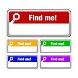 Encuéntreme botón Imagen de archivo libre de regalías