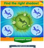 Encuentre el lagarto derecho de la sombra en un prado Imagen de archivo