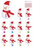 Encuentre el mismo Snowman_eps Fotos de archivo