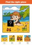 Encuentre el pedazo correcto, juego para los niños Pequeña bailarina libre illustration