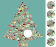 Encuentre el pedazo correcto, juego visual. Conteste a no. 4 Imagenes de archivo