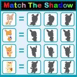 Encuentre la sombra correcta del conejo ilustración del vector