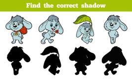 Encuentre la sombra correcta (el conejo) stock de ilustración