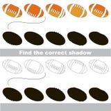 Encuentre la sombra correcta para cada objeto, el juego del niño Fotos de archivo