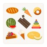 Encuentre un objeto adicional, comestible y no comestible ilustración del vector