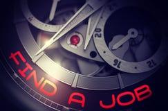 Encuentre un trabajo en mecanismo elegante del reloj 3d Foto de archivo libre de regalías