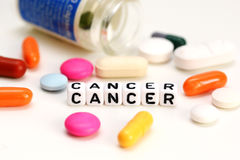 Encuentre una curación o un tratamiento del cáncer foto de archivo