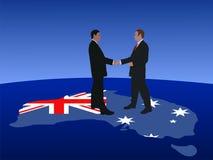 Encuentro australiano de los hombres de negocios ilustración del vector