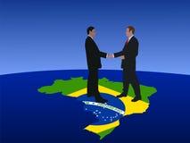 Encuentro brasileño de los hombres de negocios libre illustration