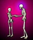 Encuentro de los esqueletos ilustración del vector