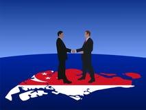 Encuentro de los hombres de negocios de Singapur ilustración del vector