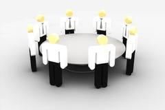 Encuentro en la mesa redonda ilustración del vector
