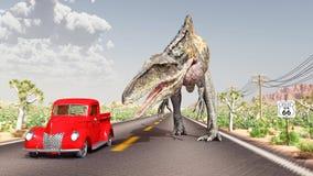Encuentro en Route 66 stock de ilustración