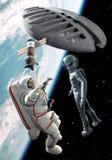 Encuentro extranjero del espacio stock de ilustración