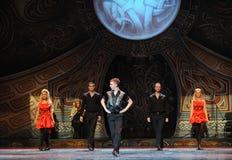 Encuentro---La danza de golpecito nacional irlandesa de la danza Foto de archivo libre de regalías
