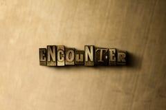 ENCUENTRO - primer de la palabra compuesta tipo vintage sucio en el contexto del metal libre illustration