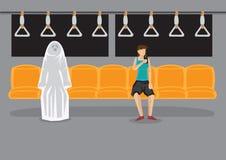 Encuentro sobrenatural en el vector de última hora Illust de la historieta del metro Imágenes de archivo libres de regalías
