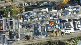 Encuesta aérea, construcción de edificios residenciales almacen de video