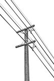 Encuesta del andtelephone de los posts de la electricidad Foto de archivo