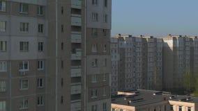 Encuesta a?rea Paisaje urbano, vieja arquitectura almacen de video