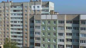 Encuesta a?rea Paisaje urbano, vieja arquitectura almacen de metraje de vídeo