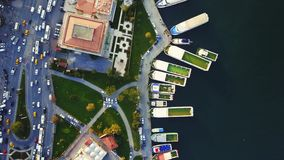 Encuesta sobre aérea Estambul almacen de metraje de vídeo