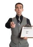 Encuesta sobre el desempleo Fotografía de archivo libre de regalías