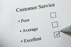 Encuesta sobre el servicio de atención al cliente Imágenes de archivo libres de regalías