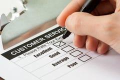 Encuesta sobre el servicio de atención al cliente Fotografía de archivo