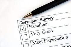 Encuesta sobre feedback de cliente Foto de archivo