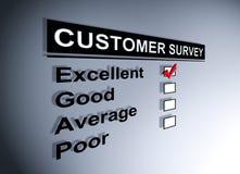 Encuesta sobre la satisfacción del cliente stock de ilustración